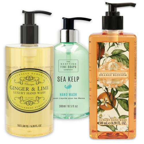 Liquid hand soaps and hand wash
