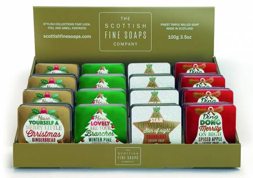 Assorted festive greetings soaps