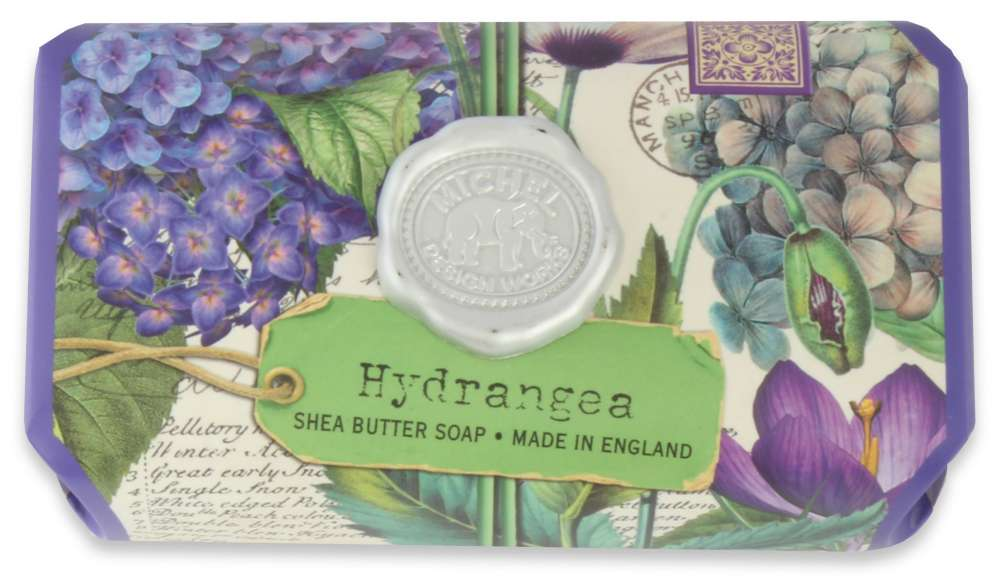 Hydrangea large soap bar