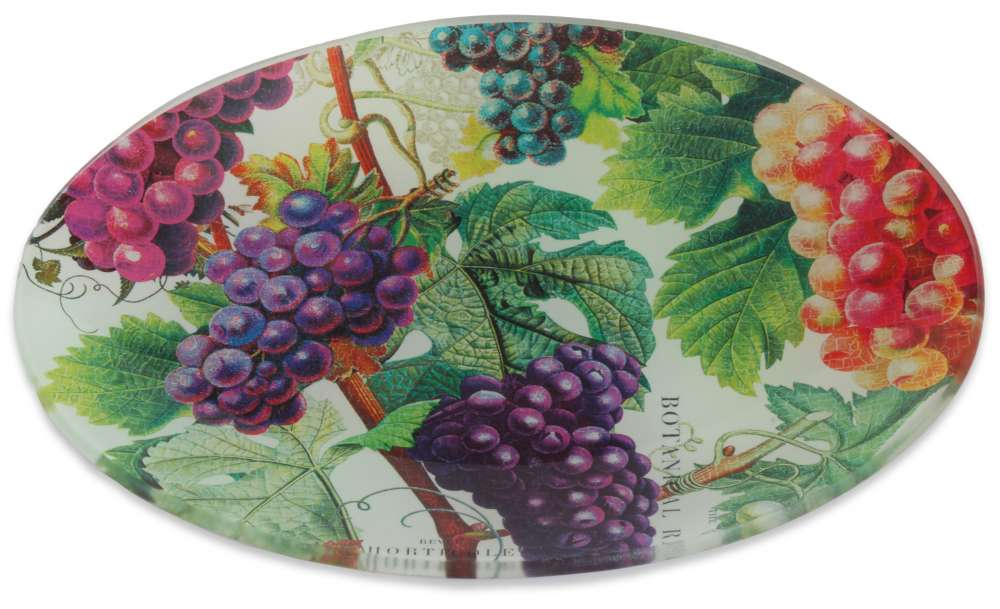 Vineyard glass soap dish