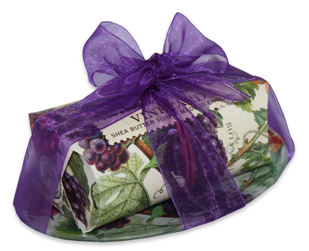 Vineyard large soap bar and dish set
