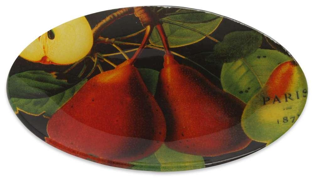 Tuscan pear glass soap dish