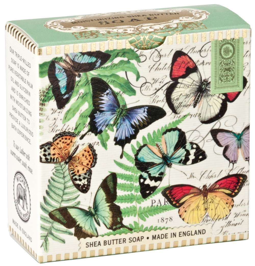 Michel Design Works Butterflies Little Soap