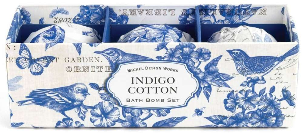Michel Design Works Indigo Cotton Bath Bomb Set