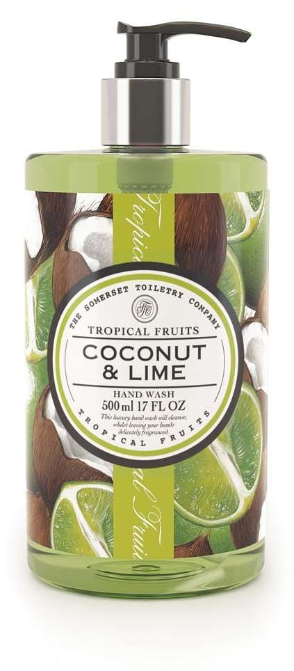 Tropical fruits hand wash coconut and lime