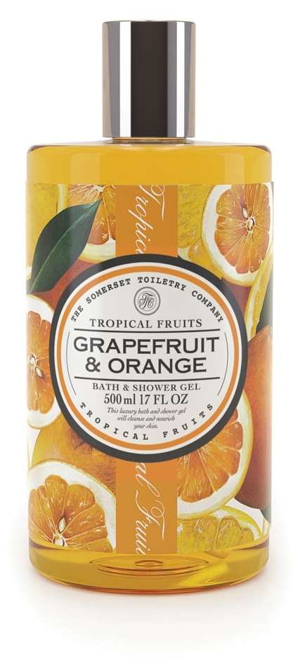 Tropical fruits bath and shower gel grapefruit and orange