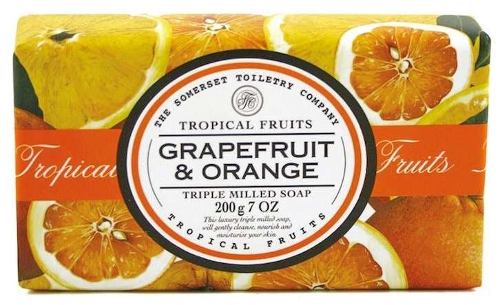 Tropical fruits - triple milled soap - grapefruit and orange