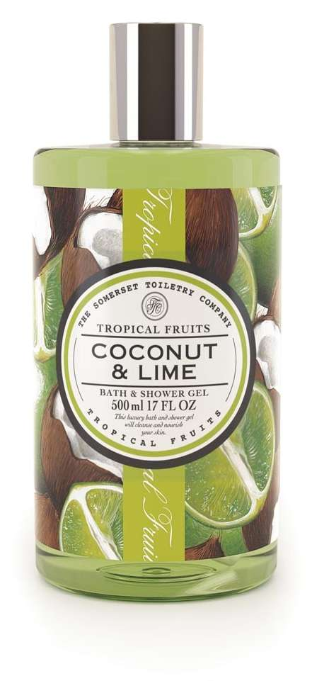 Tropical fruits - bath and shower gel - coconut and lime