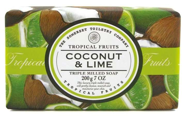 Tropical fruits - triple milled soap - coconut and lime