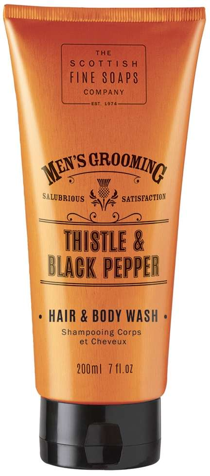 Men's grooming hair and body wash