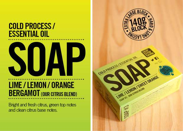 Essential oil soap