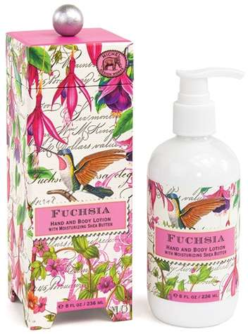 Fuchsia body lotion