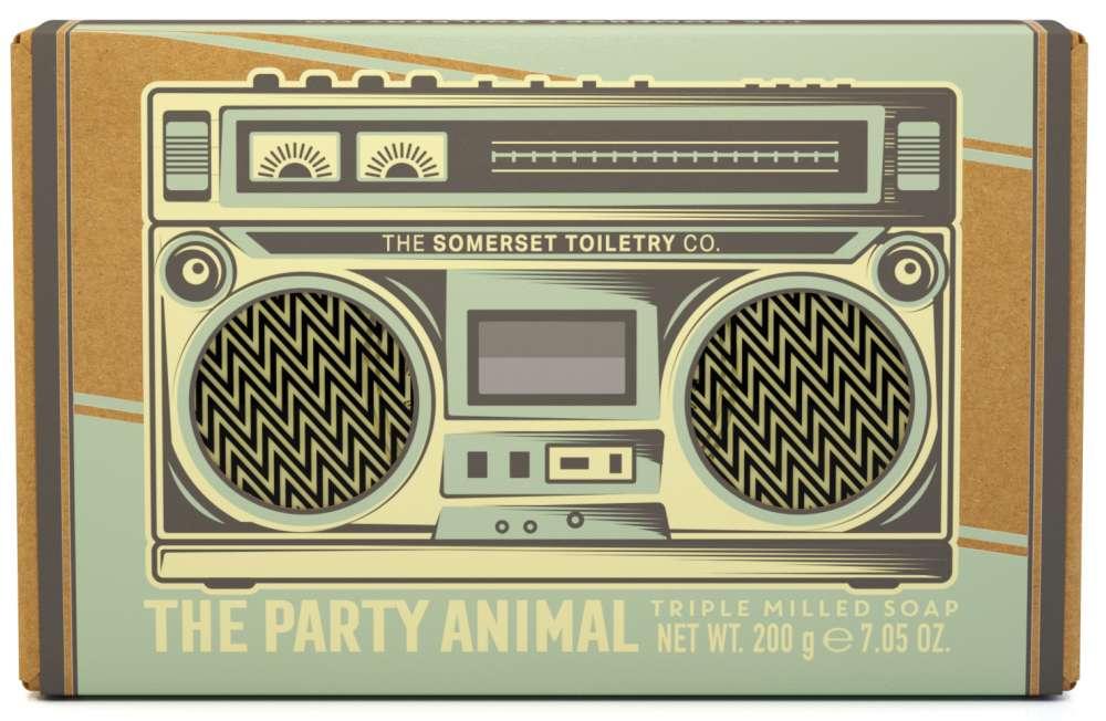 Retro mens soap bar - The party animal