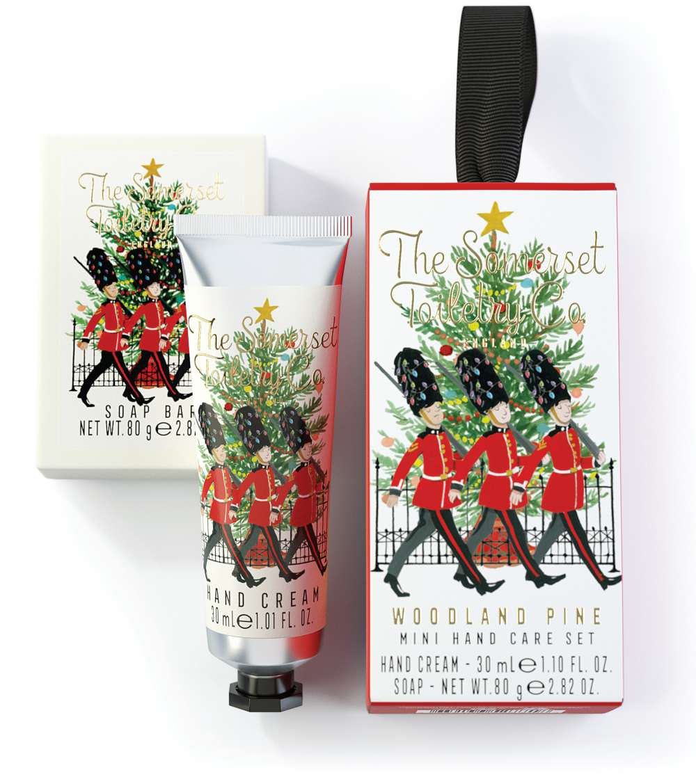 Capital Christmas hand car gift set - woodland pine