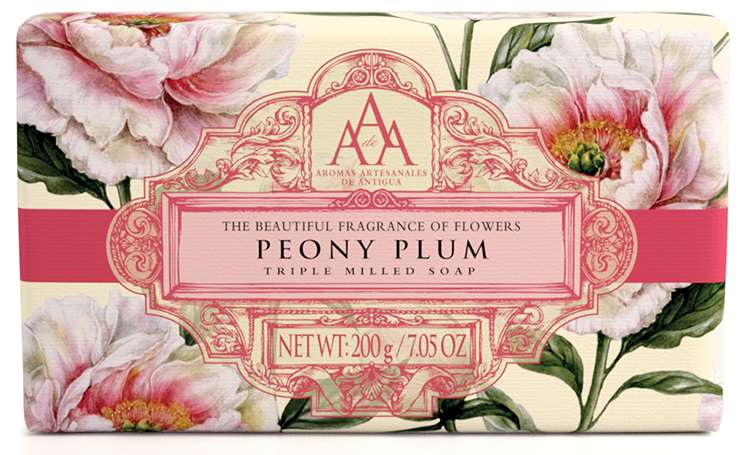 AAA Peony Plum floral soap bar