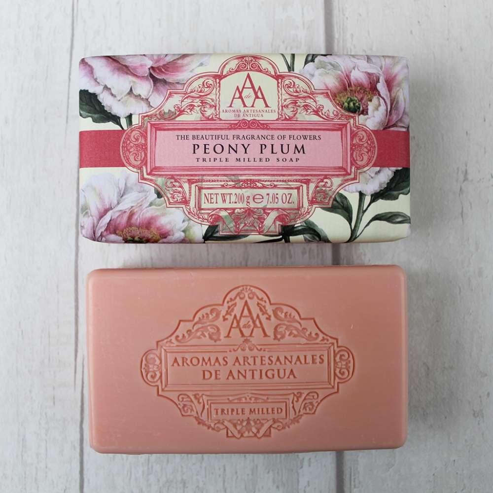 Aromas Artesanales De Antigua peony plum soap