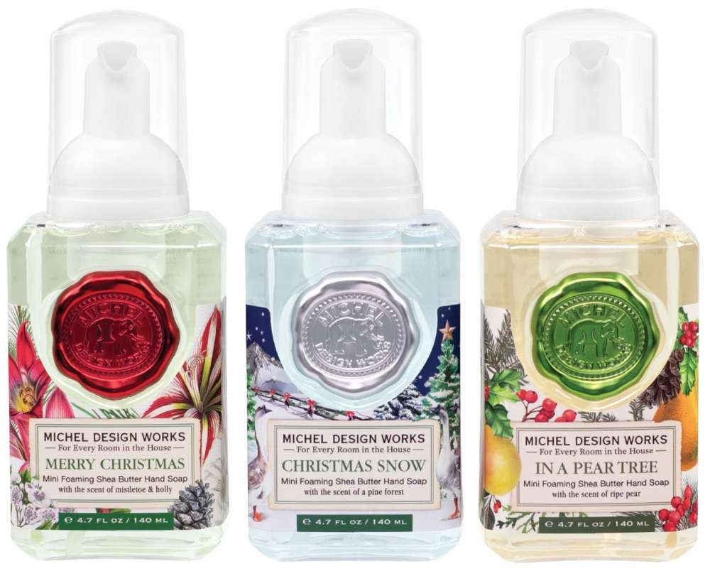 Mini Foaming Hand Soap Set - Merry Christmas, Christmas Snow, In a Pear Tree
