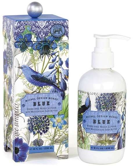 Blue body lotion - lot258