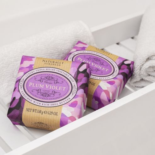 Naturally European Plum Violet Soap Bar