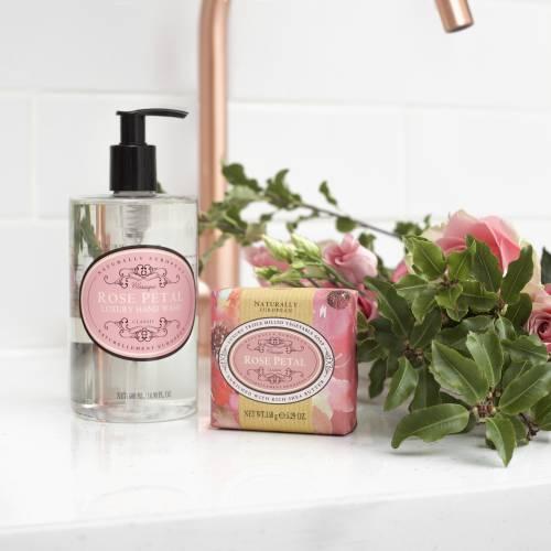 Naturally European Rose Petal Soap Bar and Hand Wash