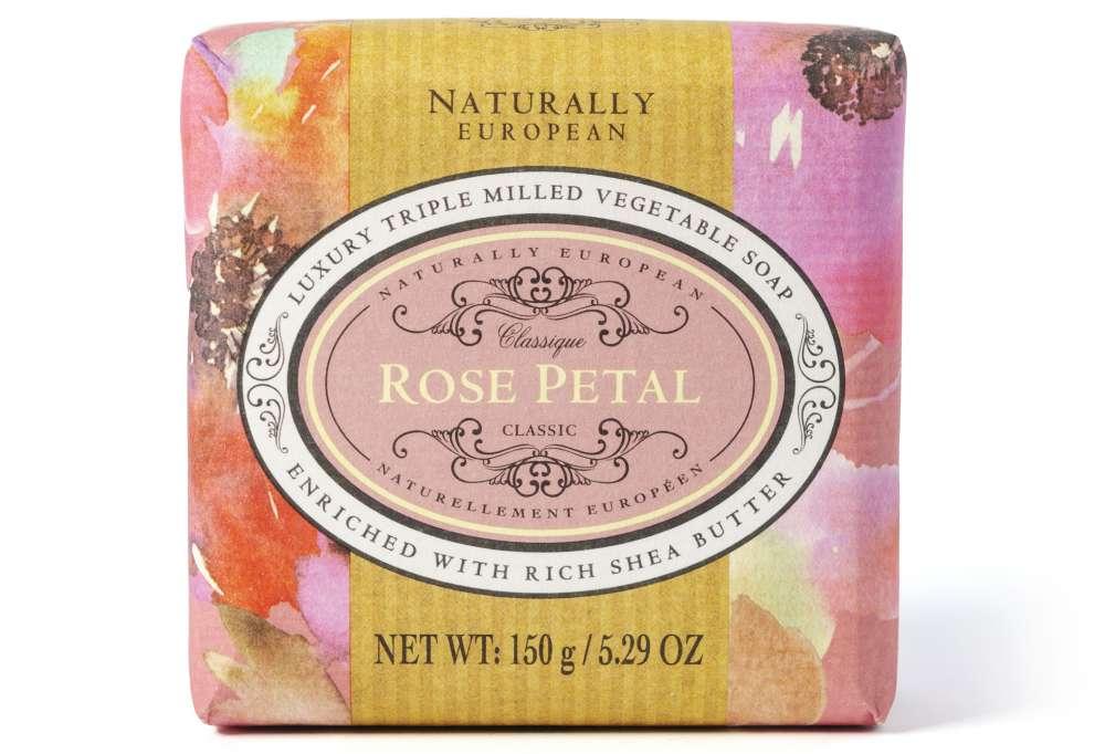 Naturally European Rose Petal Soap Bar