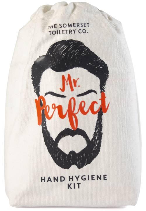 Mr Perfect Hand Hygiene Kit - canvas drawstring bag