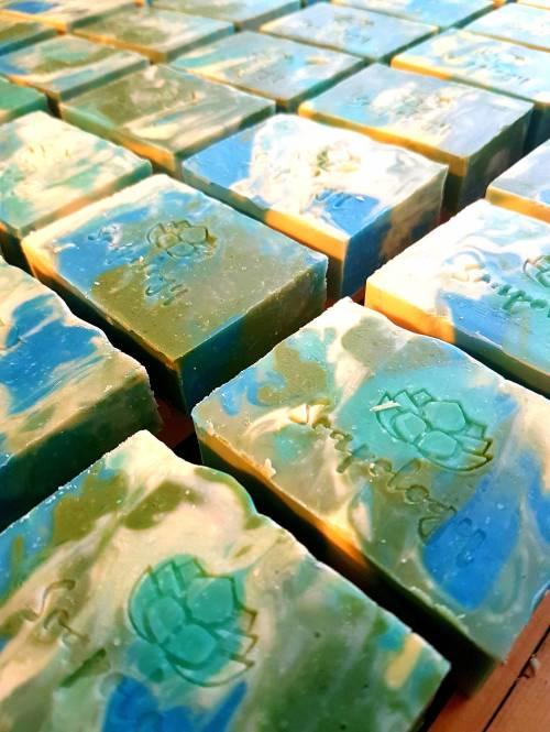 Mojito natural soap bars