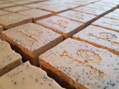 Lemon Poppy natural soap bars