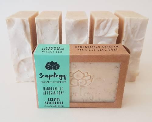 Cream Smoothie soap bars