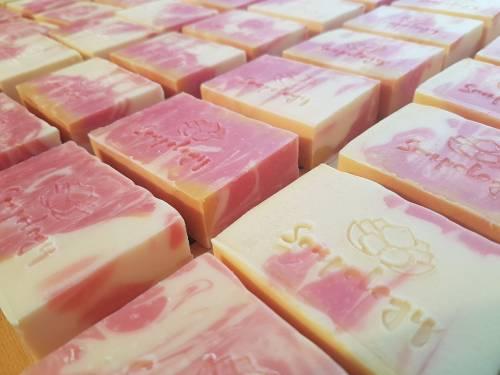 Pink Lemonade natural soap bars