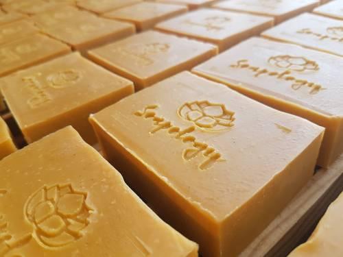 Hello Yellow natural soap bars