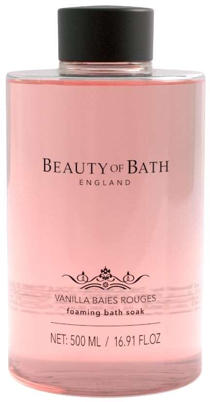 Beauty Of Bath Vanilla Baies Rouges Foaming Bath Soak
