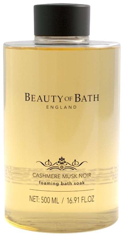 Beauty Of Bath Cashmere Musk Noir Foaming Bath Soak