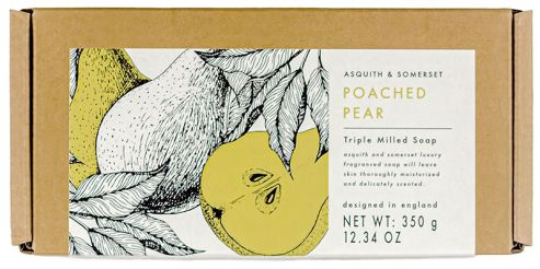 Poached Pear Soap Packaging