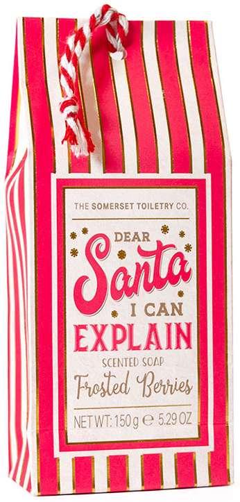 Santa I Can Explain soap bar gift