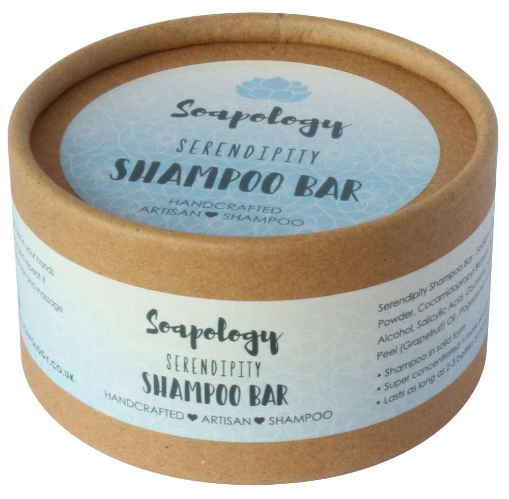 Serendipity natural shampoo eco packaging