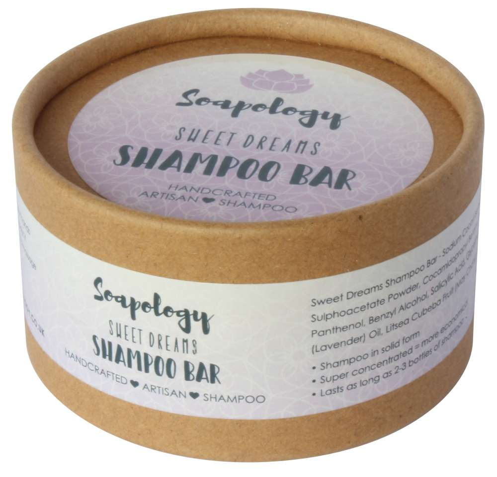 Sweet dreams natural shampoo eco packaging