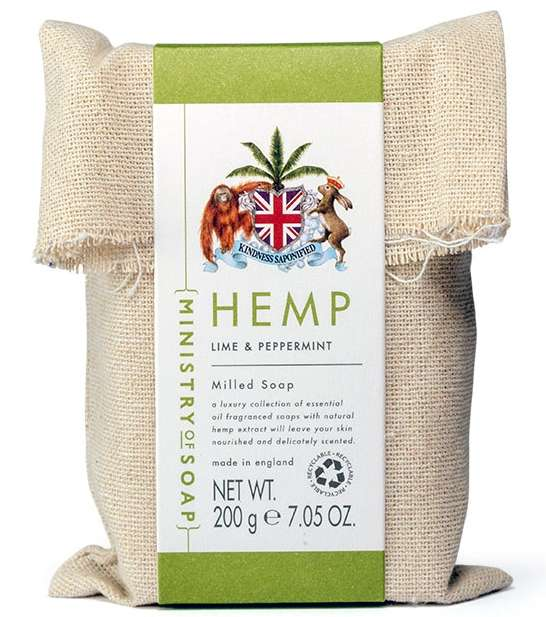 Lime & Peppermint Hemp Oil Soap Bar