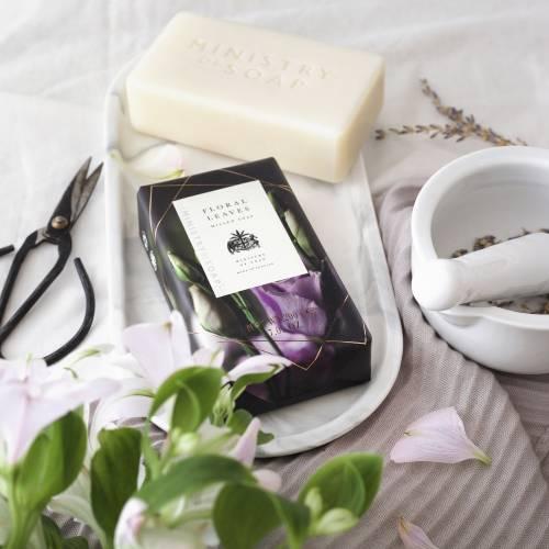 Dark Floral luxury soap