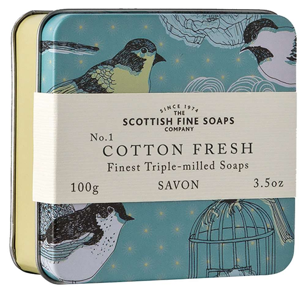 Scottish Fine Soaps - Soap In A Tin - Cotton Fresh