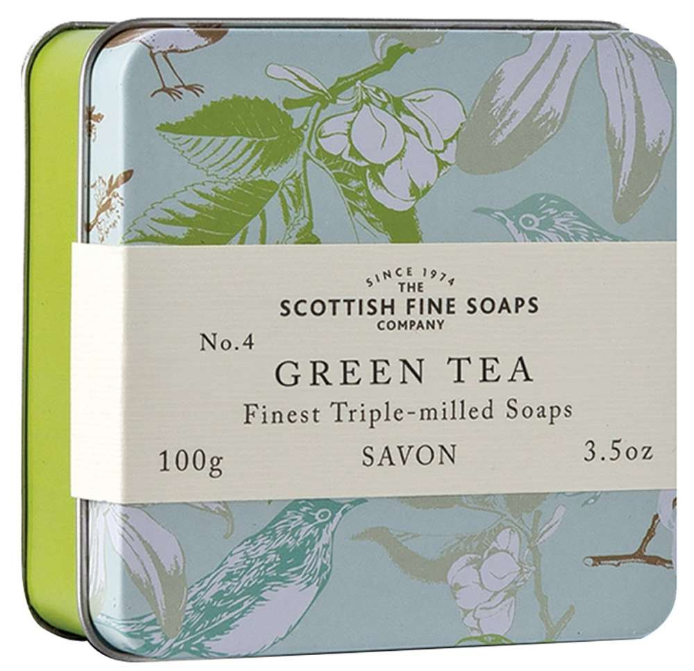 Scottish Fine Soaps - Soap In A Tin - Green Tea