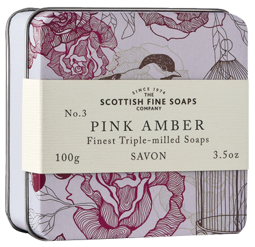 Scottish Fine Soaps - Soap In A Tin - Pink Amber