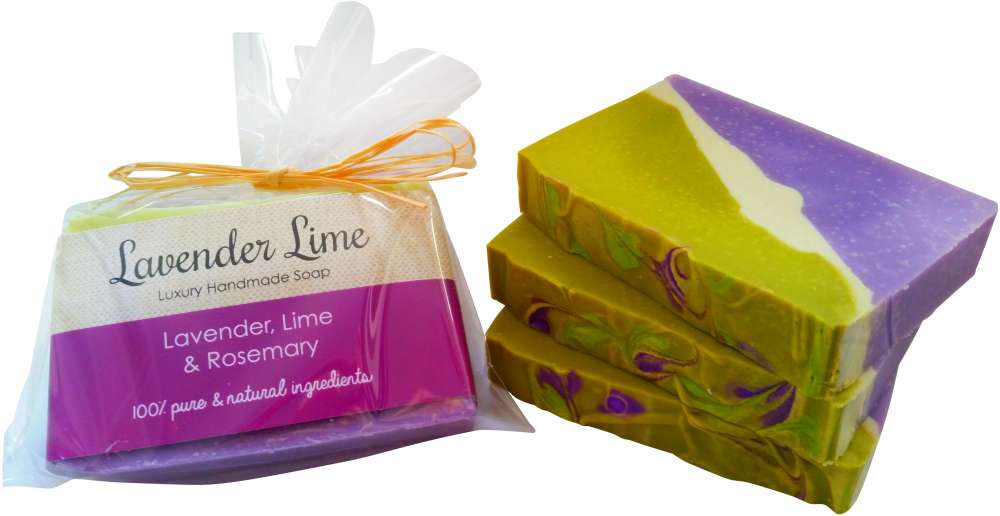 Lavender, Lime and Rosemary Natural Soap