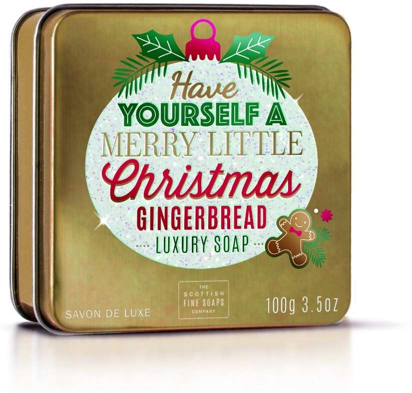 Merry Little Christmas Gingerbread Soap In A Tin