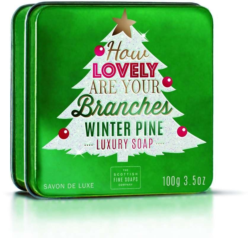 Lovely Branches (Winter Pine) Soap In A Tin