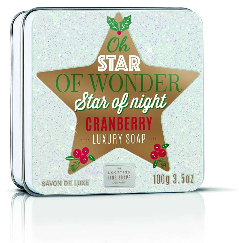 Star Of Wonder (Cranberry) Soap In A Tin