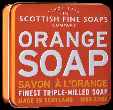 Orange Soap In A Tin