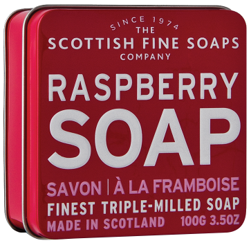 Raspberry Soap In A Tin
