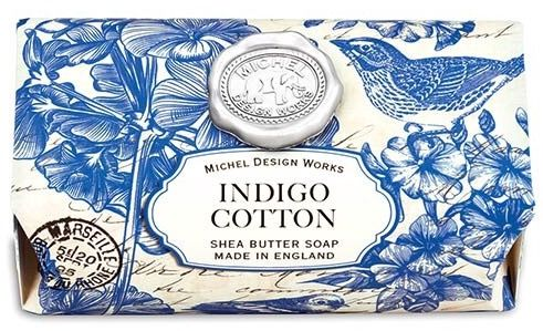Indigo Cotton Large Soap Bar By Michel Design Works