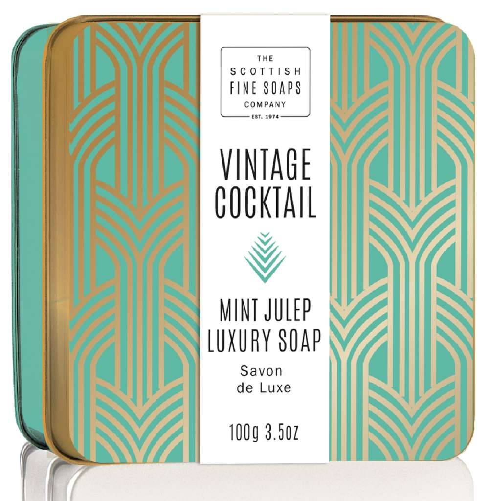 Scottish Fine Soaps Mint Julep Vintage Cocktail Soap In A Tin